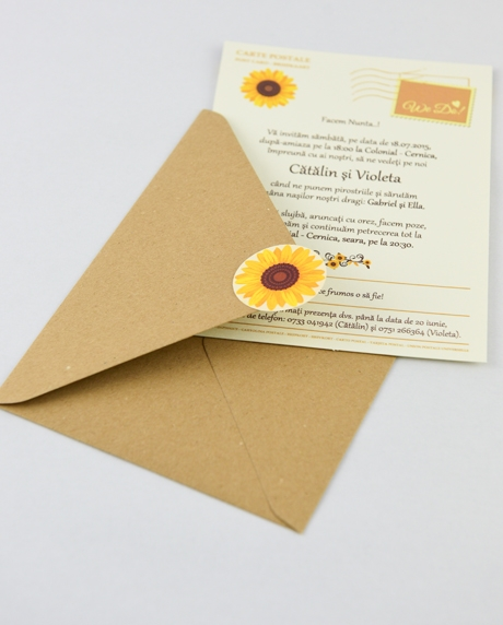 Invitatie nunta tip postcard 8