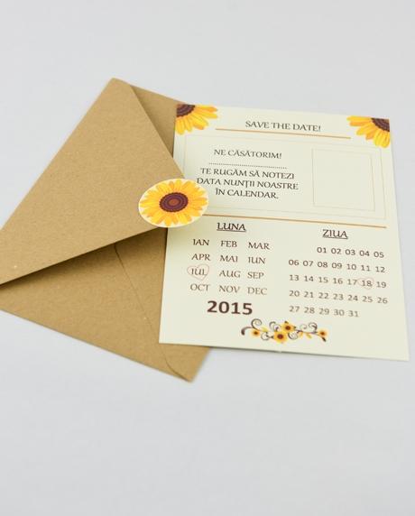 Invitatie nunta tip postcard 9