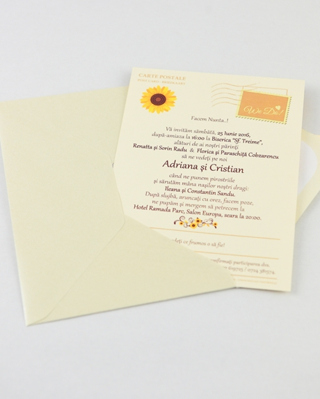 Invitatie nunta tip postcard 11