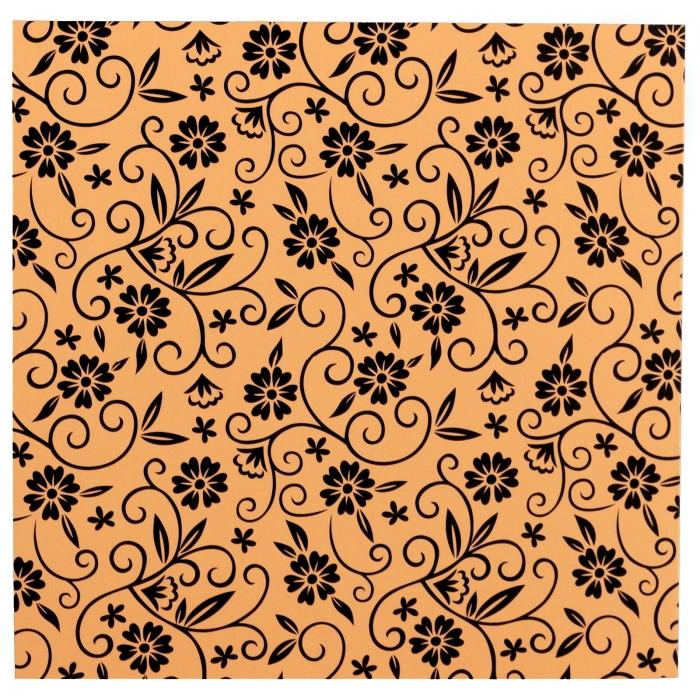 Invitatie de nunta somon cu pattern floral 2