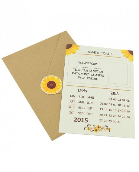Invitatie nunta tip postcard 1