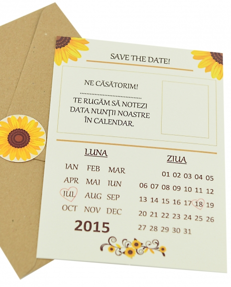 Invitatie nunta tip postcard 0