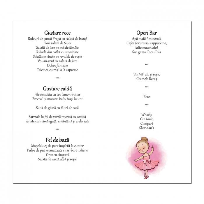 Meniu botez balerina roz 2