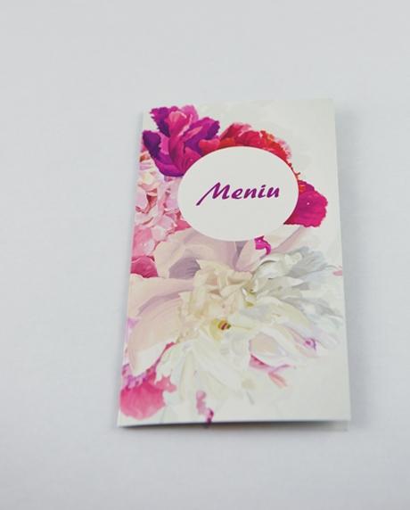Meniu nunta floral 1