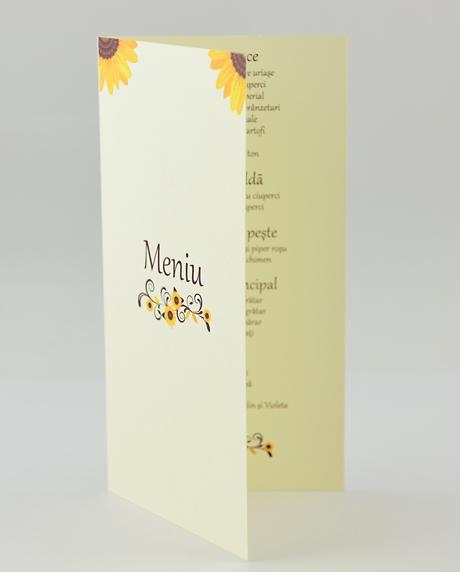 Meniu postcard floarea-soarelui [1]