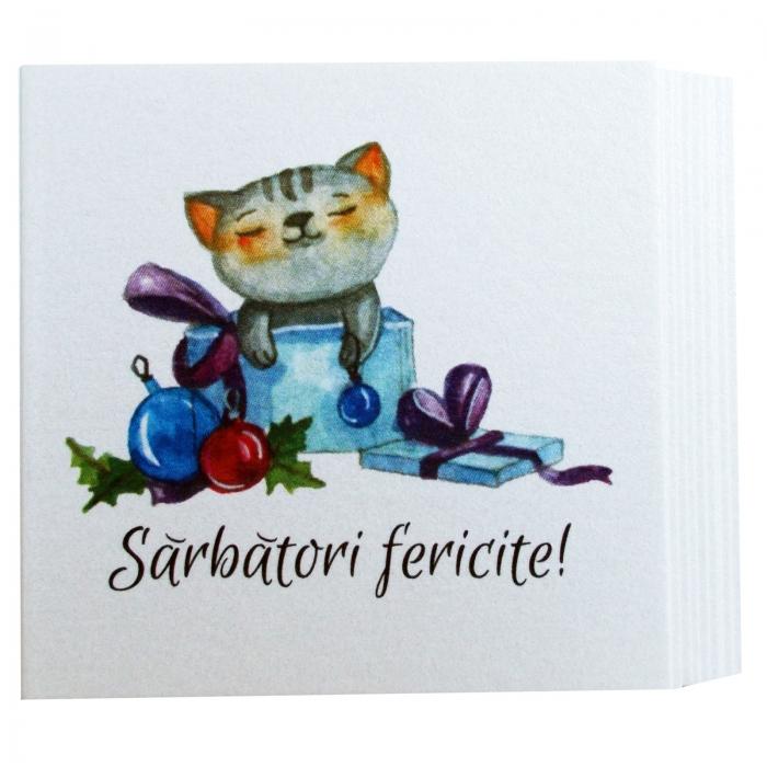 Minifelicitari Craciun pisica 1