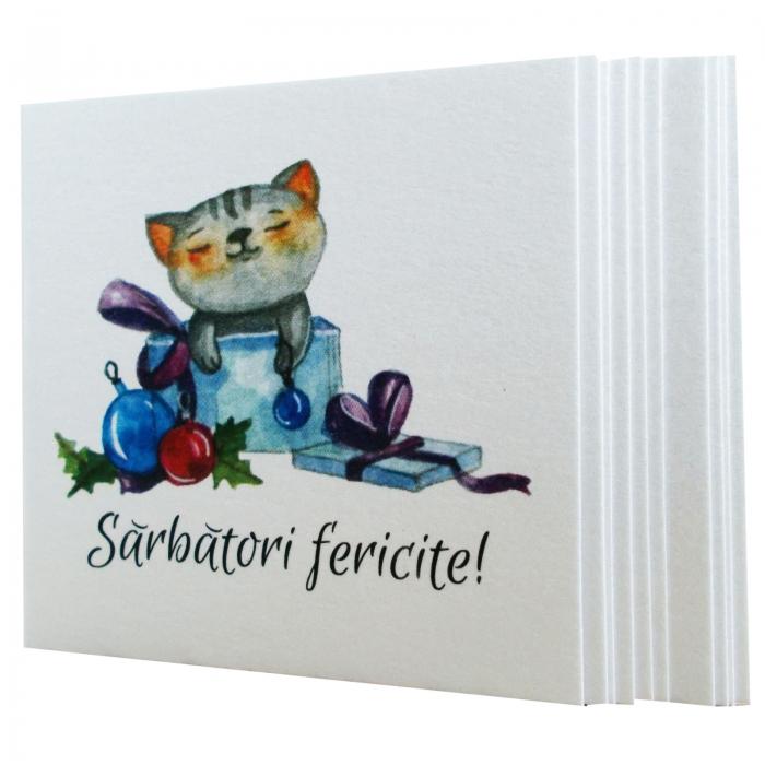 Minifelicitari Craciun pisica 0