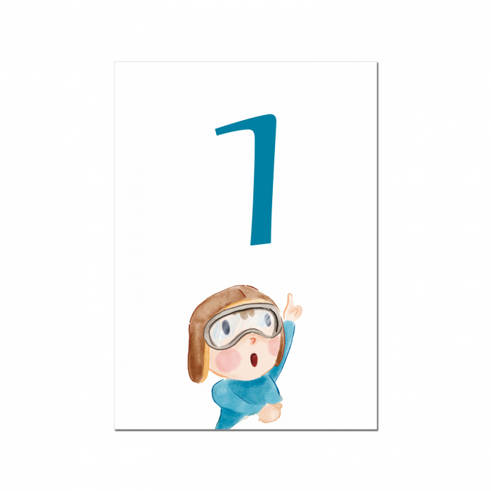 Set 10 numere mese micul aviator [2]