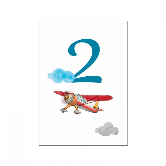 Set 10 numere mese micul aviator [5]