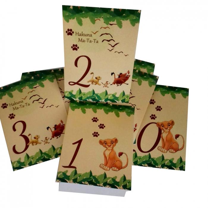 Set 10 numere mese leu Simba 0