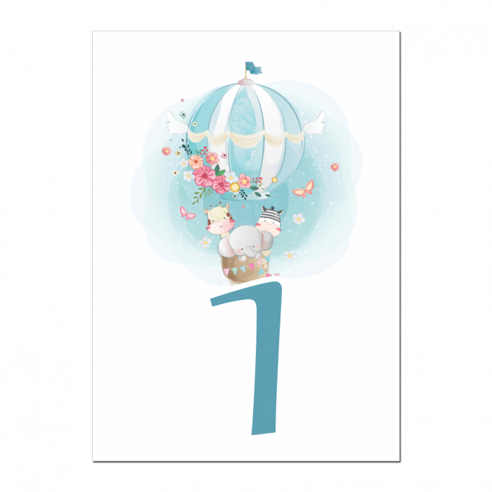 Set 10 numere mese balon aer cald [1]
