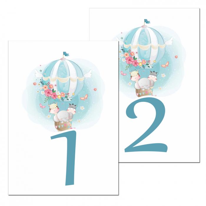 Set 10 numere mese balon aer cald [0]