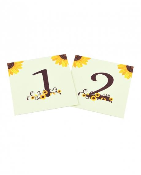 Numere mese postcard floarea-soarelui 2