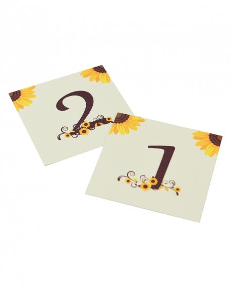 Numere mese postcard floarea-soarelui 1
