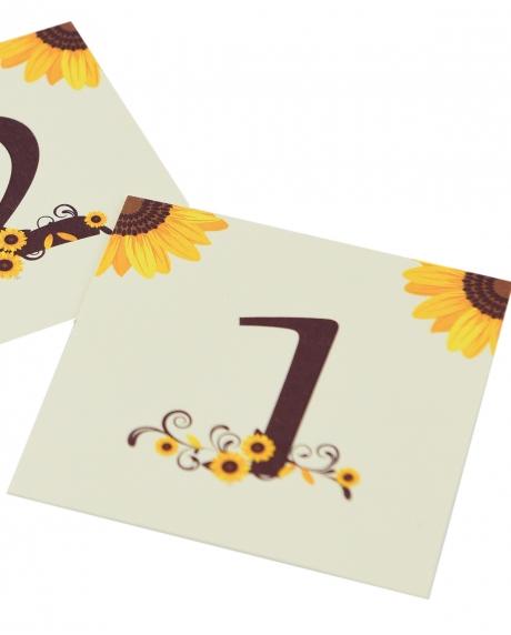 Numere mese postcard floarea-soarelui 0