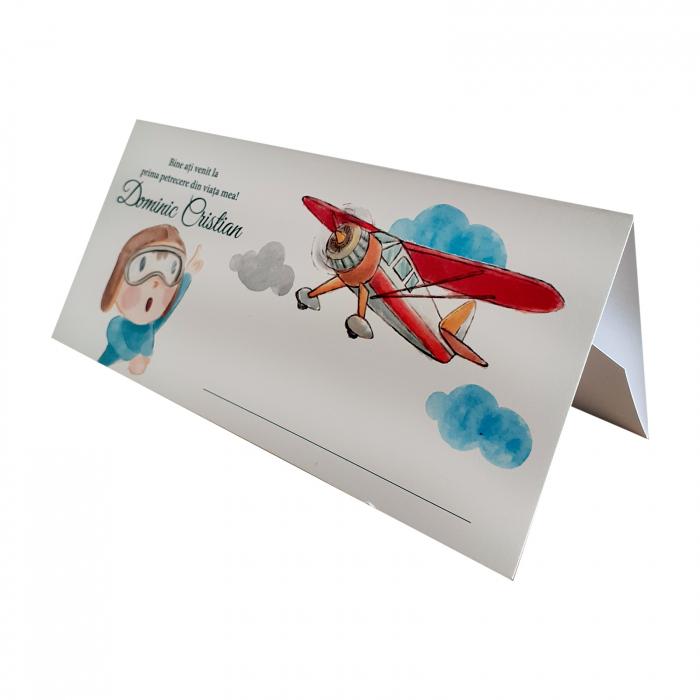 Place card plic de bani botez aviator [0]