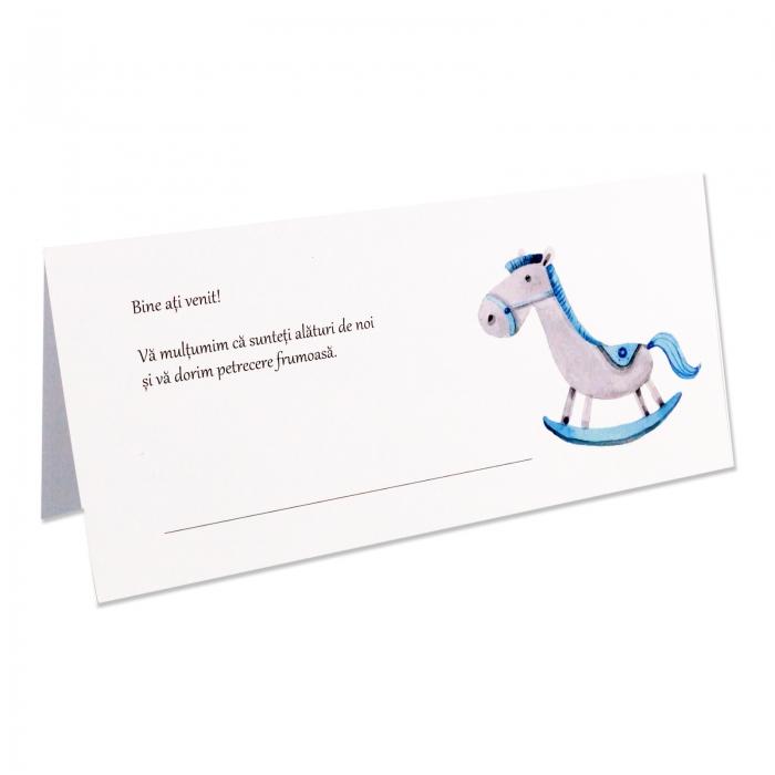 Place card - plic de bani botez calut bleu 0