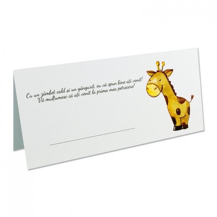 Place card plic de bani botez girafa [0]
