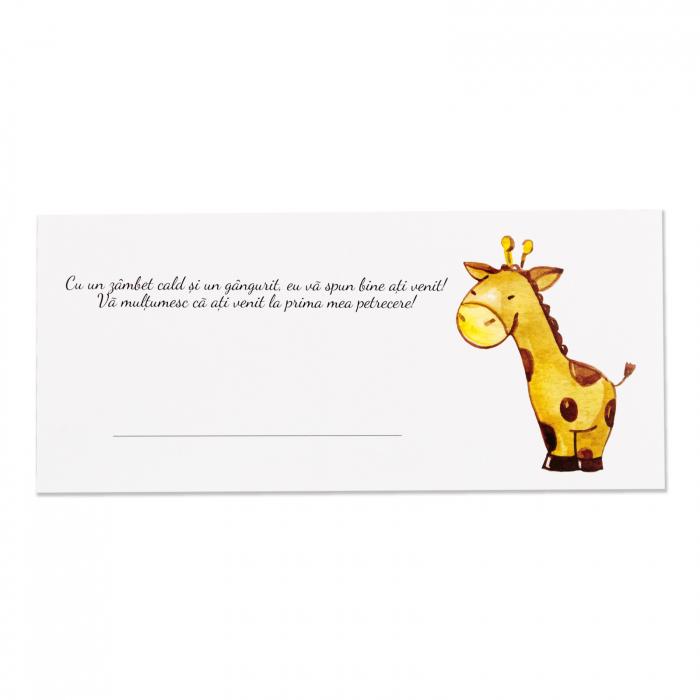 Place card plic de bani botez girafa [1]