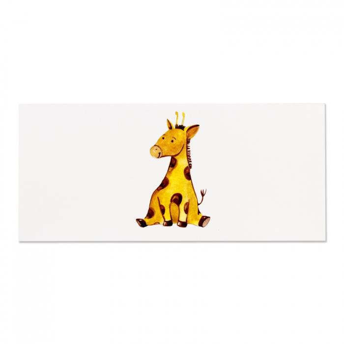 Place card plic de bani botez girafa [3]