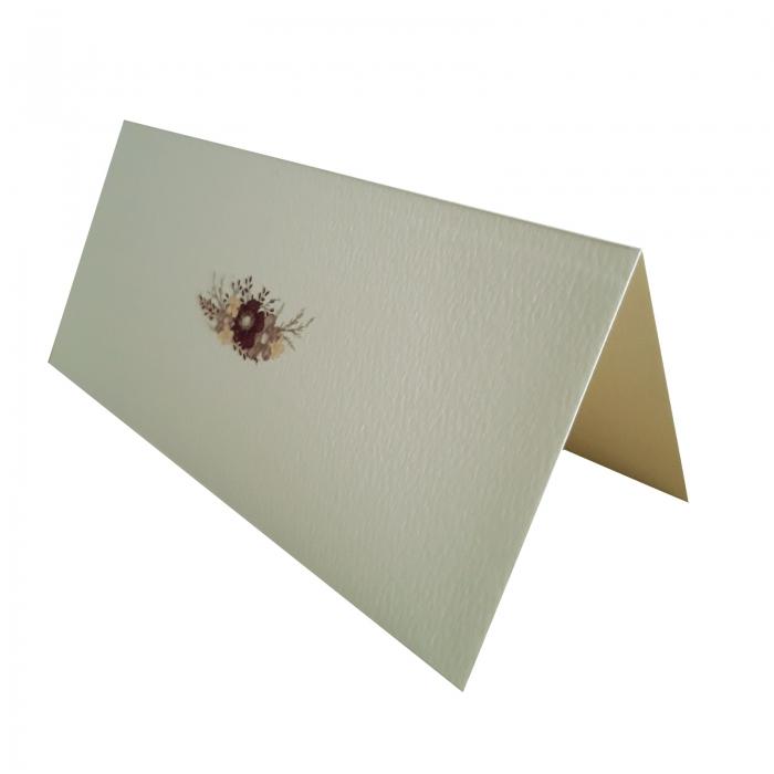 Place card - plic de bani - nunta cu floare mov 1