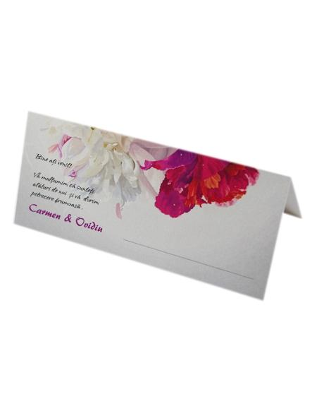 Place card nunta floral 0