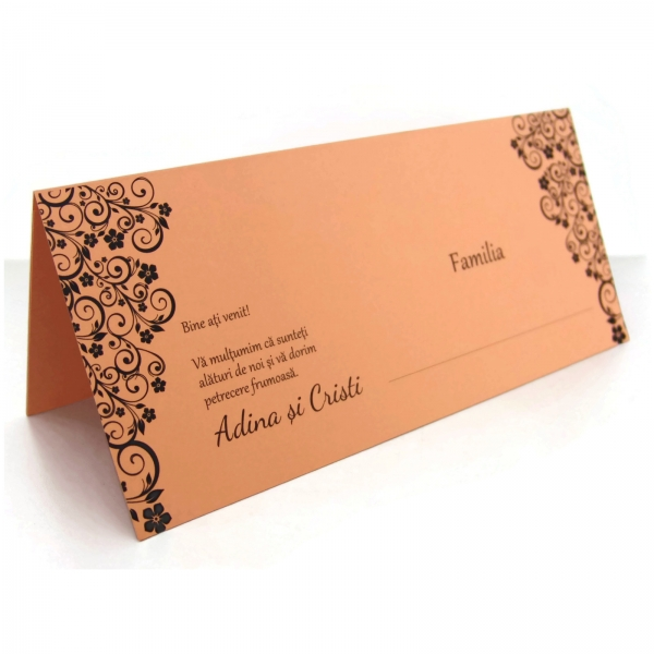 Place card somon cu motive florale 1