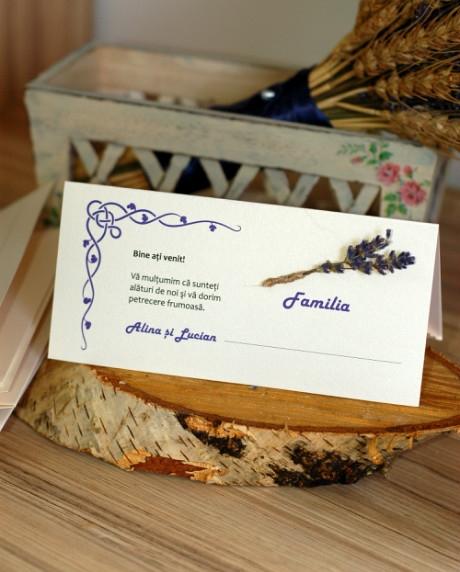 Place card nunta set lavanda 3