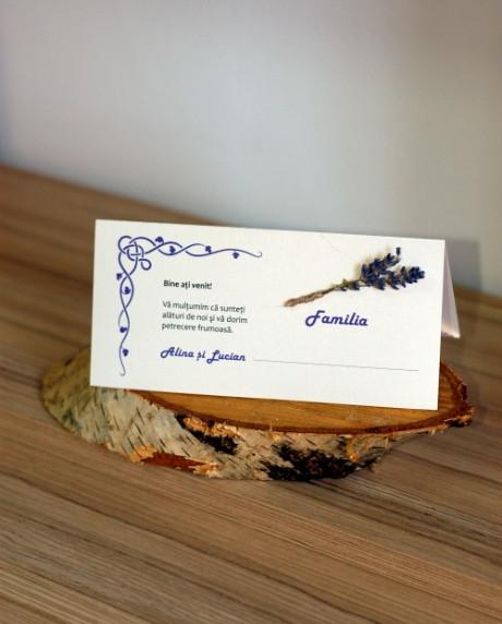 Place card nunta set lavanda 4