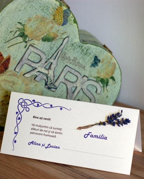 Place card nunta set lavanda 2