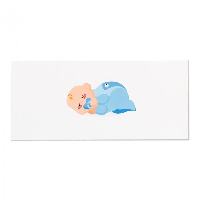 Place card - plic de bani - botez bebe baietel 3