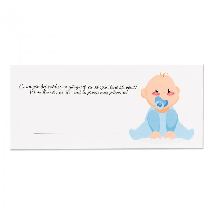 Place card - plic de bani - botez bebe baietel 2