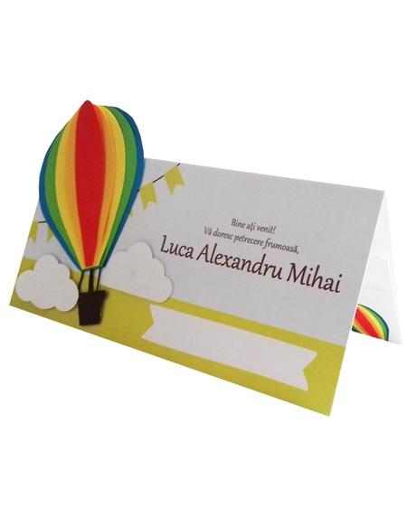 Place card botez Micul explorator multicolor [0]