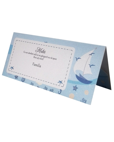 Place card botez nautic 0