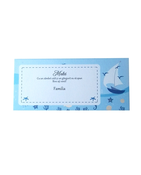 Place card botez nautic 2