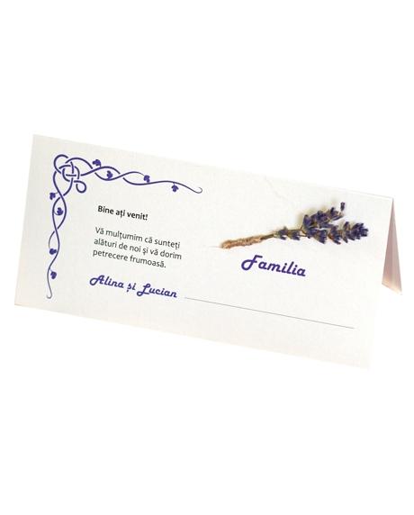 Place card nunta set lavanda 0
