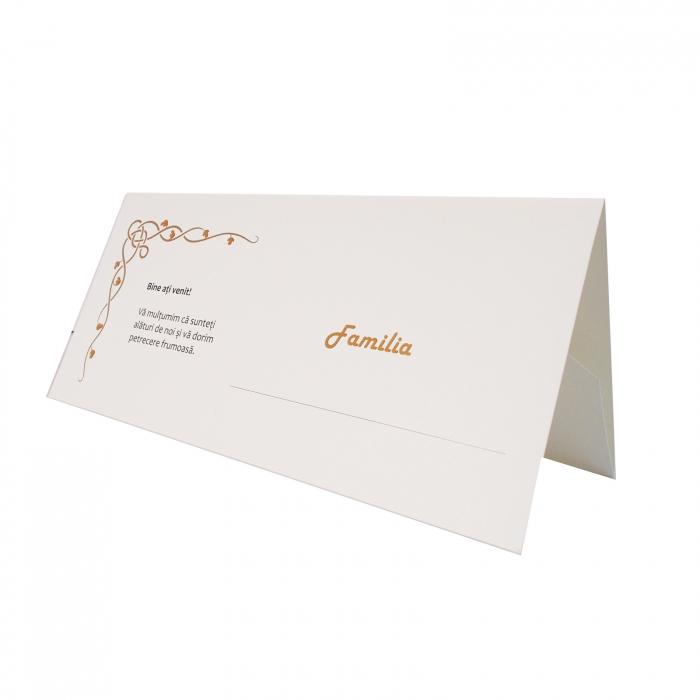 Plic de bani - place card nunta/botez model celtic crem 0