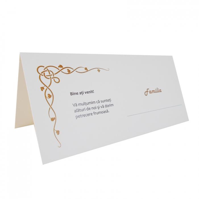 Plic de bani - place card nunta/botez model celtic crem 1