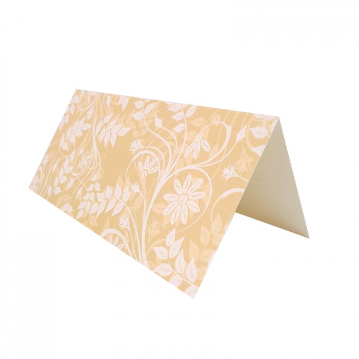 Plic de bani - place card nunta/botez model pattern floral crem 3