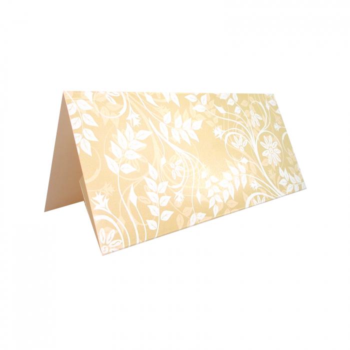 Plic de bani - place card nunta/botez model pattern floral crem 4