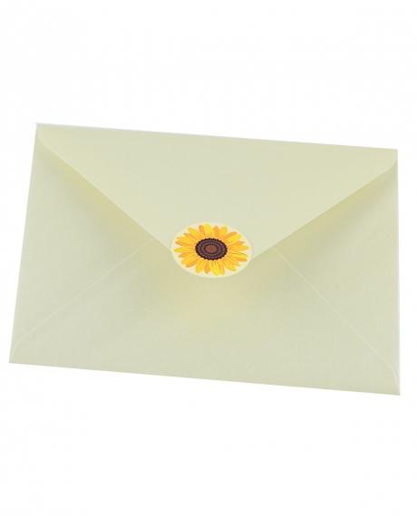 Plic alb sidef floarea-soarelui 0