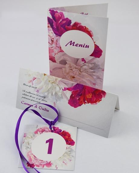 Meniu nunta floral 3