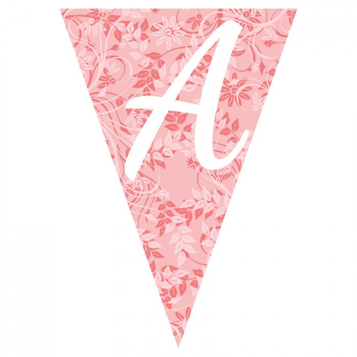 Stegulet ghirlanda pattern roz 0