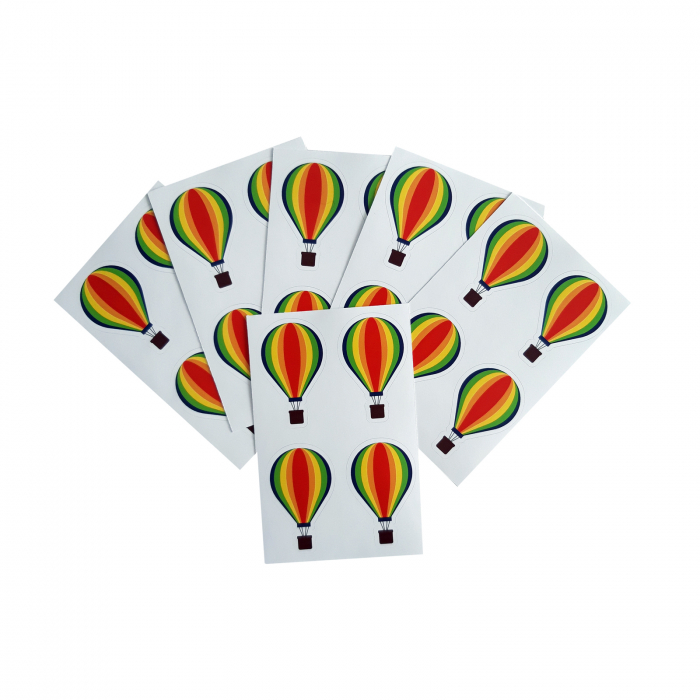 Stickere balon multicolor 1