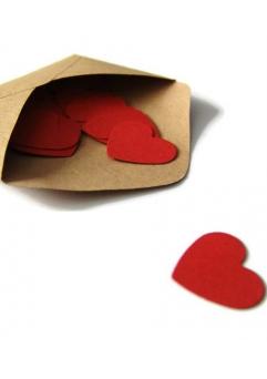 Confetti inimioare rosu grena 2,5 cm set 50 buc [1]