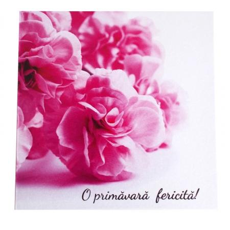 Felicitare martie flori roz [1]