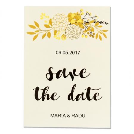 INVITATIE DE NUNTA FLORI GOLD & BLACK1