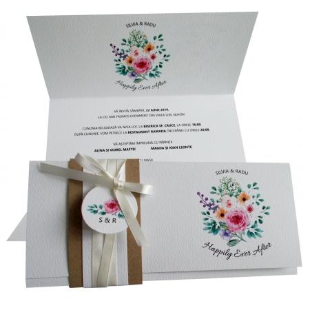 Invitatie nunta flori multicolore [0]