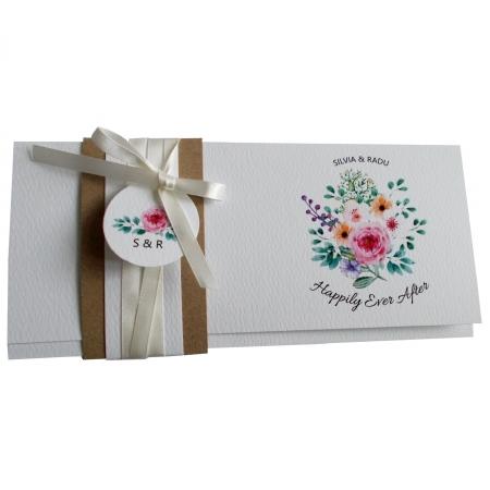 Invitatie nunta flori multicolore [2]