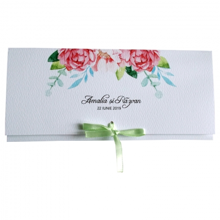 Invitatie nunta flori roz [3]